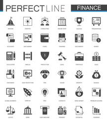 Black classic web Finance money web icons set.