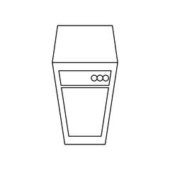 Storage database tower icon vector illustration graphic design
