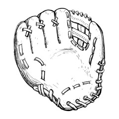 Baseball leather glove icon vector illustration graphic design