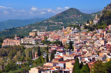 Taormina, sea Sicily Italy