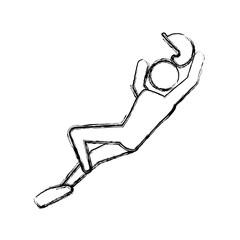 Baseball player pictogram icon vector illustration graphic design