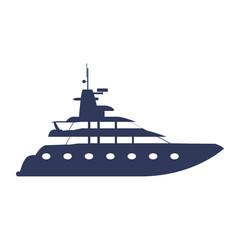 Yacht luxury boat icon vector illustration graphic design