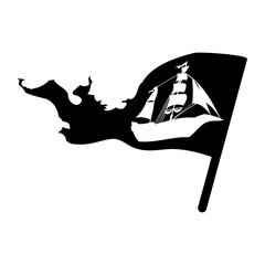 Pirate boat ship icon vector illustration graphic design