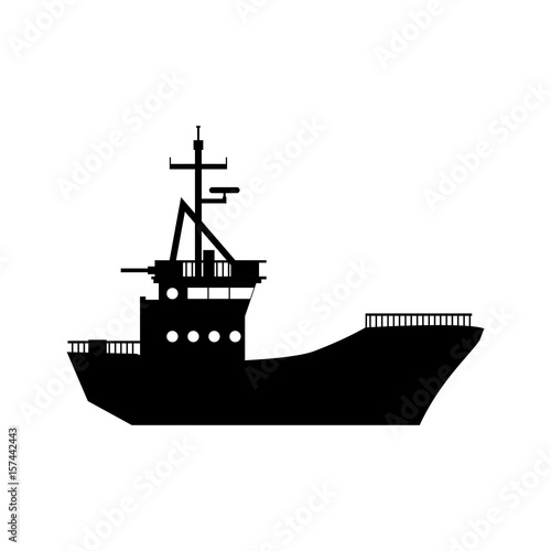 Fishing boat isolated icon vector illustration graphic