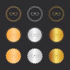 Brille - Bronze, Silber, Gold Medaillen