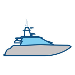 Yacht luxury boat icon vector illustration graphic design