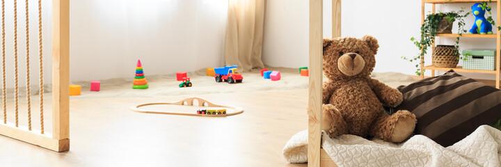 Sandpit in kids room