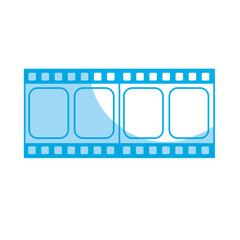 silhouette filmstrip to studio scene in projection