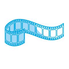 silhouette filmstrip to studio scene in projection