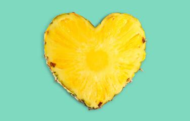 Pineapple slice, isolated on white