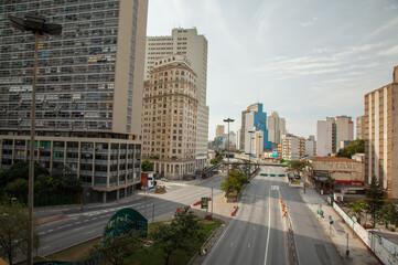 Empty streets in Sao Paulo - Brazil