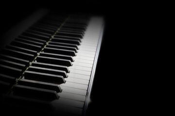 Poster Music Piano keyboard. Grand piano keys