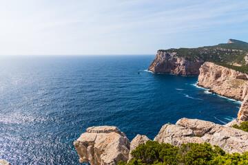 Rocky cliff in Capo Caccia