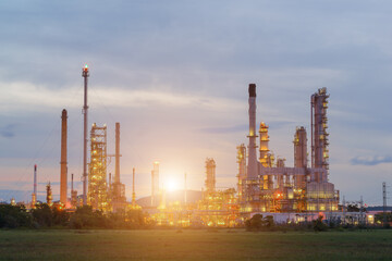 Oil refinery industry on green field