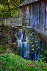 Water still flows and still turns the wheel in the century (plus) old Cable Grist Mill in the Cades Cove section of the Great Smoky Mountains National Park.