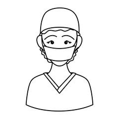 Surgeon doctor profile avatar vector illustration icon graphic design