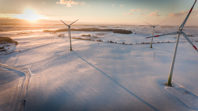 wind mill aerial view