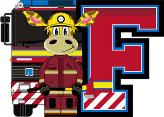 F is for Fireman - Giraffe