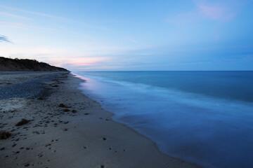 beach on the Cape Cod with sand dunes