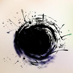 Watercolor Grunge colorful banner background. Vector illustration.