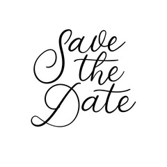 Save the date calligraphy inscription for wedding or love card
