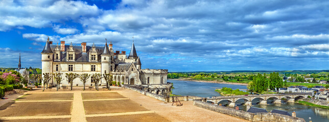 Chateau d'Amboise, one of the castles in the Loire Valley - France
