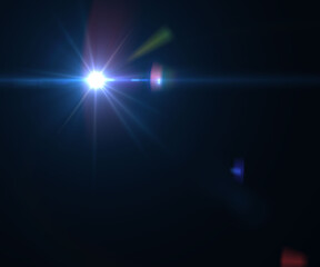 Abstract sun burst and digital lens flare foreground alpha channel illustration