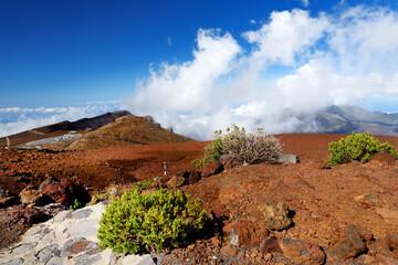 Stunning landscape view of Haleakala volcano area seen from the summit, Maui, Hawaii