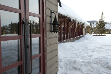 Snow Lodge, Winter, Yellowstone NP