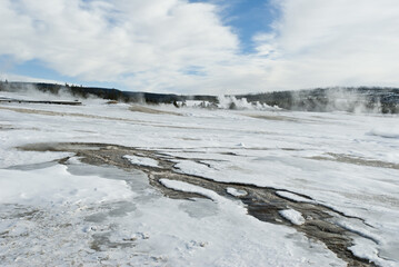 Hot Spring, Winter, Upper Geyser Basin, Yellowstone NP