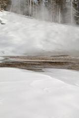 Grand Geyser, Winter, Yellowstone NP