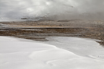 Grand Geyser, Winter, Yellowstone NP
