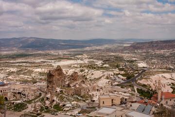 Cappadocia landscape shot on cloudy day