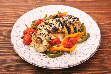 chicken breast stuffed feta cheese and herbs