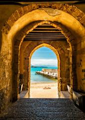 Cafalu Sicily - Archway to Beach.jpg