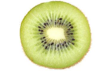 fresh cut kiwi fruit isolated on white background