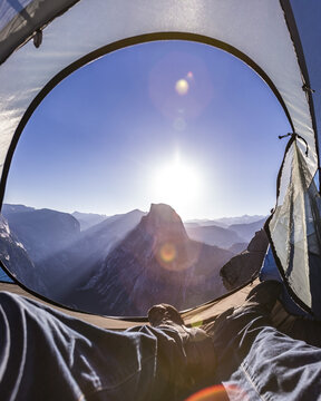 Camping in Yosemite on a prime locatioin