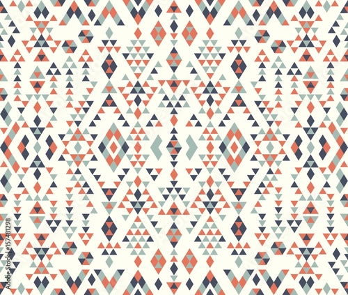 Seamless Ethnic Pattern Textures Navajo Geometric Print Rustic Decorative Ornament Abstract