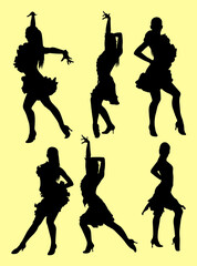 Tango salsa dancer silhouette. Good use for symbol, logo, web icon, mascot, sign, or any design you want.