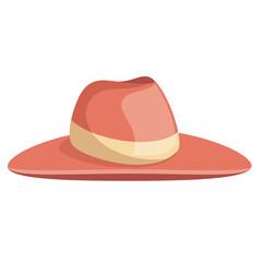 elegant female summer hat vector illustration design