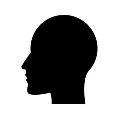 man head silhouette, profile male avatar icon vector illustration