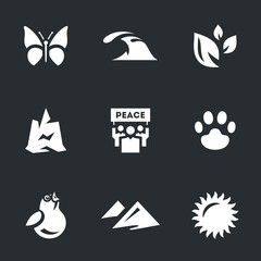 Vector Set of Enviroment protection Icons.