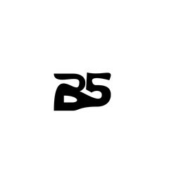 letter B5 logo vector