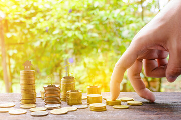 Growing silver coins and saving money step succeed