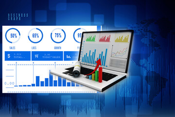 Stock market online business concept. business Graph