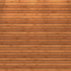 Cartoon square background with wooden boards