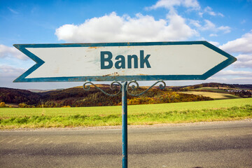 Schild 251 - Bank