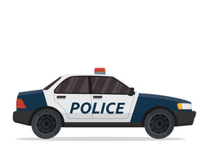 Modern Flat Urban Vehicle Illustration Logo - Police Patrol Car