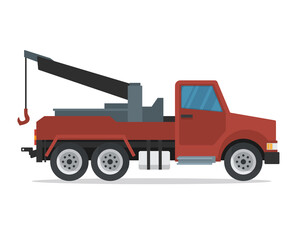 Modern Flat Urban Vehicle Illustration Logo - Tow Truck