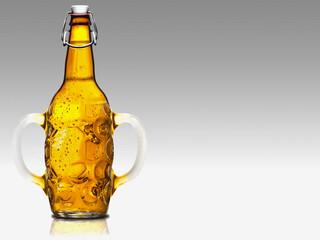 Bier to go, Bierkrug mit Henkel und Verschluß